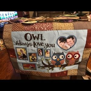 Owl always love you quilted wall hang.
